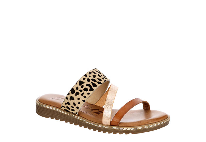 BLOWFISH Womens Otsi Slide Sandal - LEOPARD