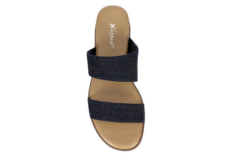 XAPPEAL Womens Farrah Wedge Slide Sandal - DENIM