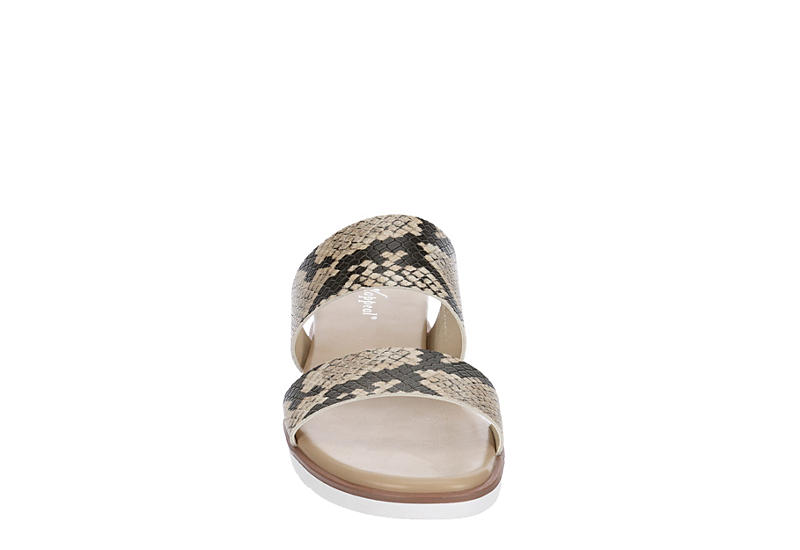 XAPPEAL Womens Farrah Wedge Slide Sandal - SNAKE