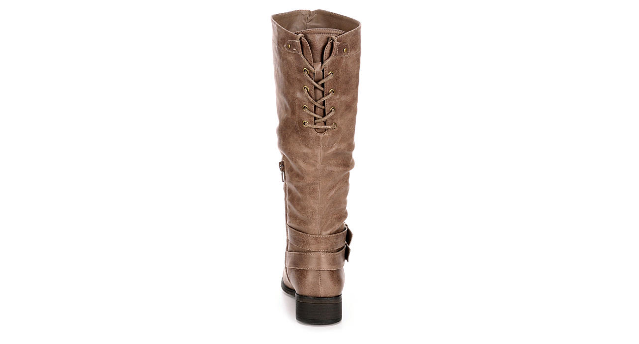 XOXO Womens Mullan Riding Boot - TAUPE