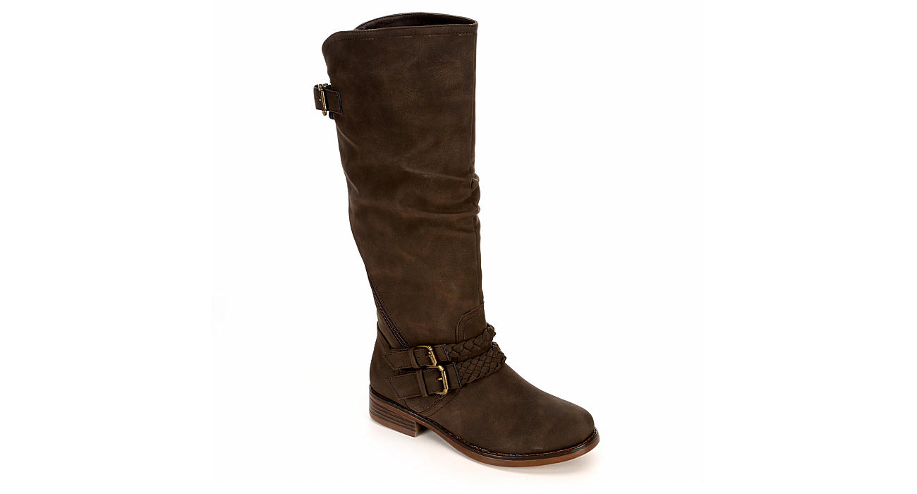XOXO Womens Maia Wide Calf - BROWN