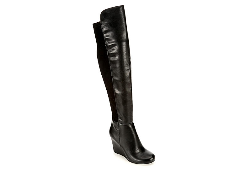 b868702dc4a Black Xappeal Cleo Women s Tall Wedge Boots