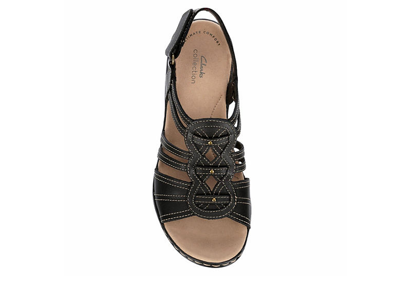 CLARKS Womens Leisa Janna Comfort Sandal - BLACK