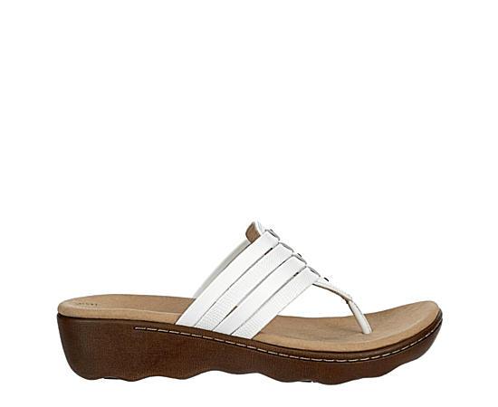 Womens Phebe Carman Wedge Thong Sandal