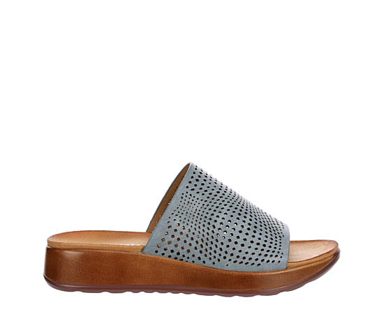 Womens Yummy Slide Wedge Sandal