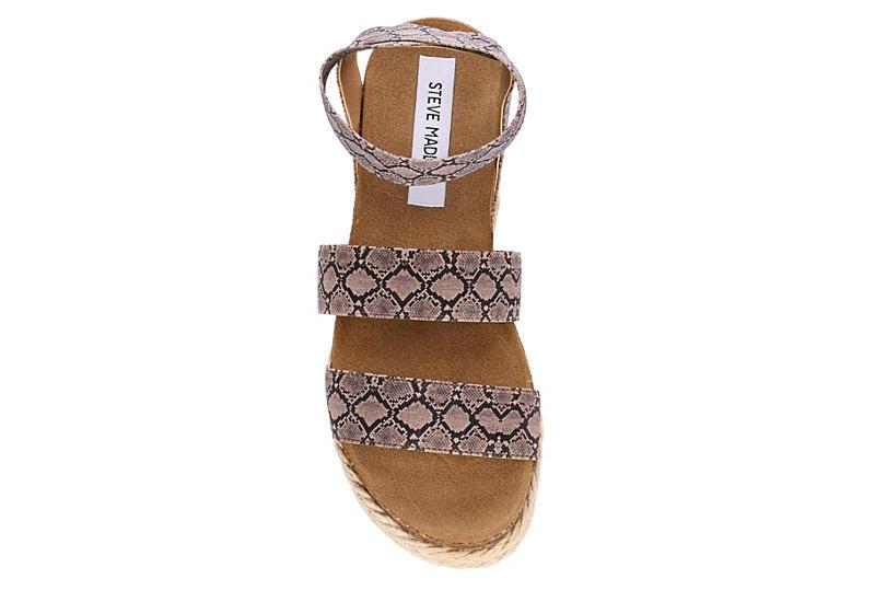 STEVE MADDEN Womens Kimmie Platform Espadrille Sandal - SNAKE