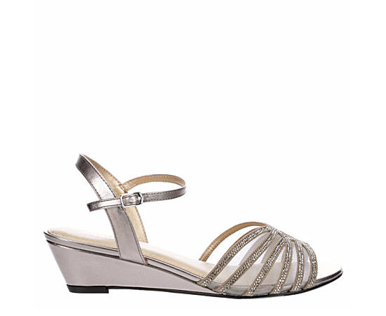 Womens Lucie Dress Evening Wedge Sandal