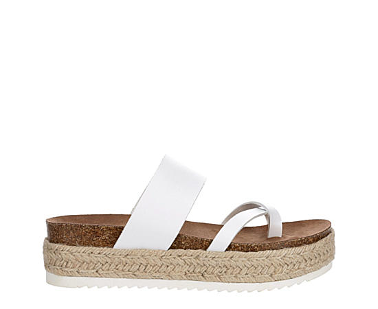Womens Case Espadrille Footbed Slide Sandal