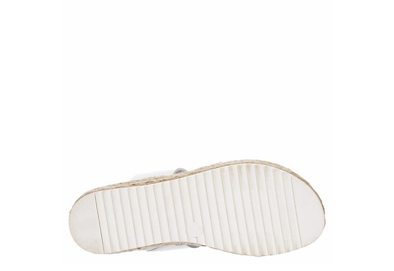 MADDEN GIRL Womens Case Espadrille Footbed Slide Sandal - WHITE