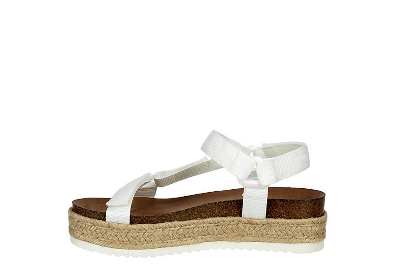 MADDEN GIRL Womens Cambridge Espadrille Platform Wedge Sandal - WHITE