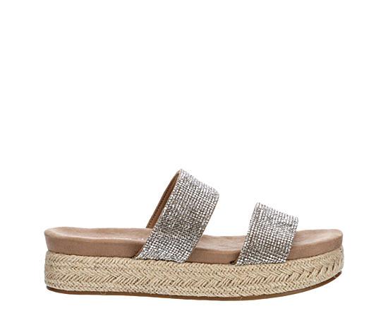 Womens Elleen Espadrille Footbed Slide Sandal