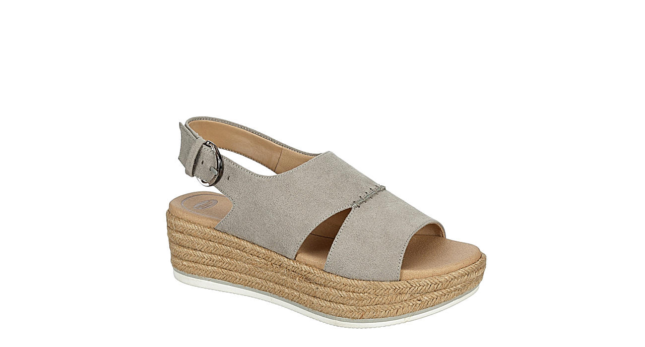 DR. SCHOLL'S Womens Catch 22 Espadrille Sandal - GREY