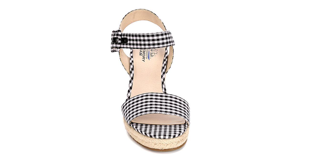 LIFESTRIDE Womens Tango Wedge Sandal - BLACK