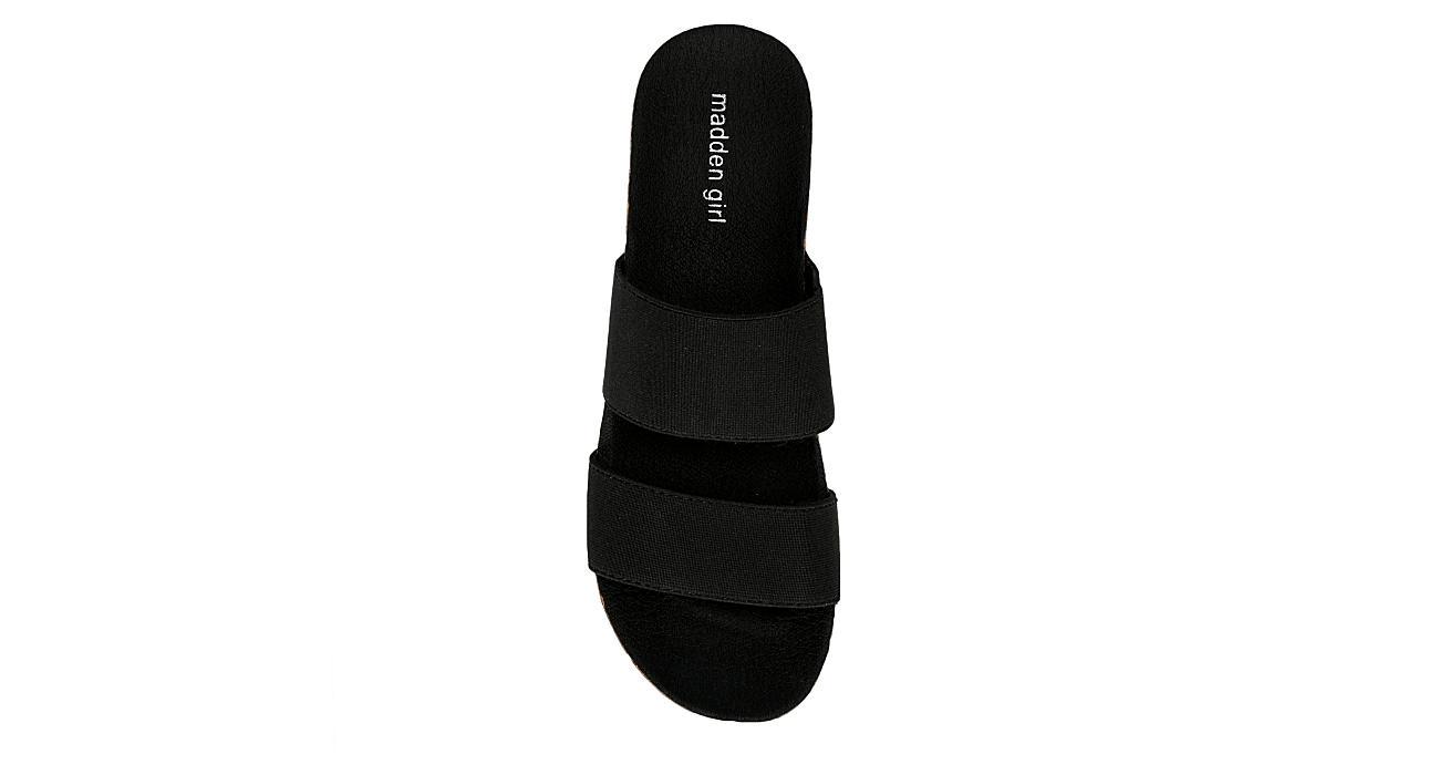 MADDEN GIRL Womens Nikkii Wedge Sandal - BLACK