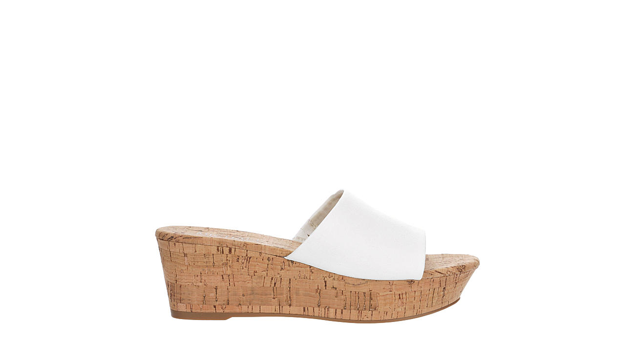 MICHAEL BY MICHAEL SHANNON Womens Ibiza Wedge Sandal - WHITE
