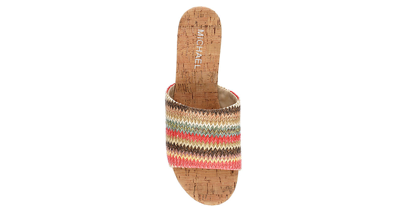 MICHAEL BY MICHAEL SHANNON Womens Ibiza Wedge Sandal - MULTICOLOR