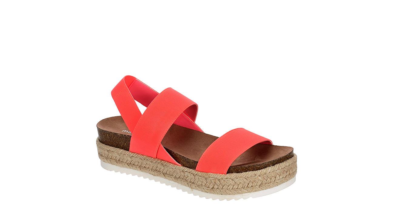 MADDEN GIRL Womens Cybell Espadrille Platform Sandal - BRIGHT PINK