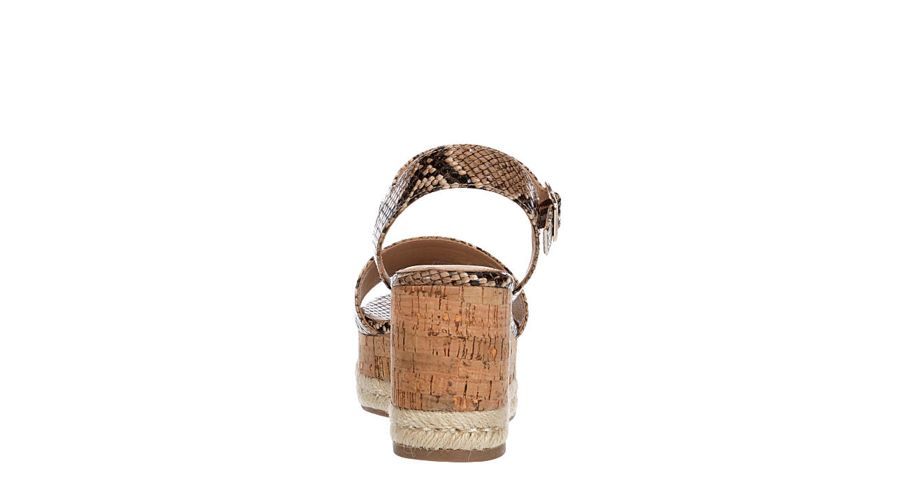 MICHAEL BY MICHAEL SHANNON Womens Kaitlin Wedge Sandal - SNAKE