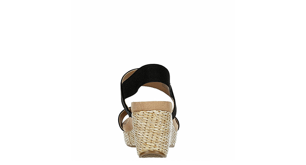 LIFESTRIDE Womens Delta Wedge Sandal - BLACK