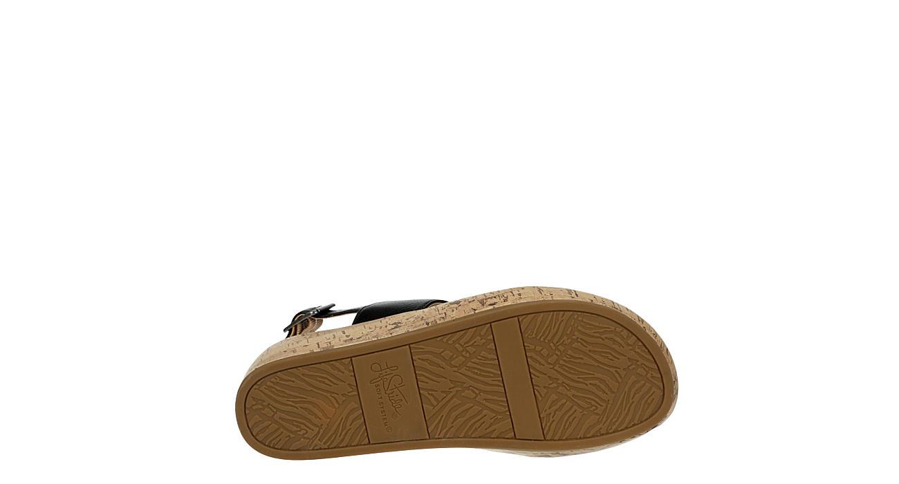 LIFESTRIDE Womens Wynonna Wedge Sandal - BLACK