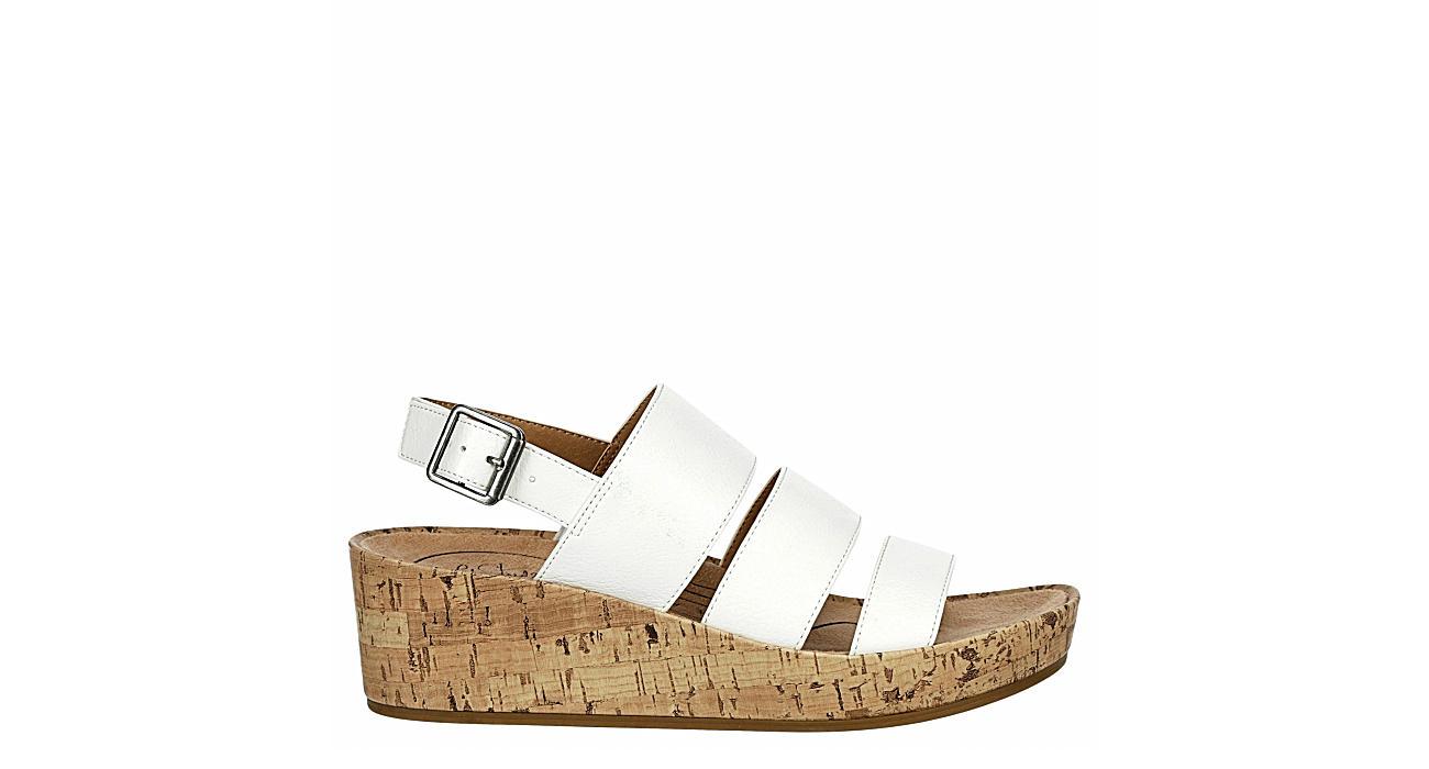 LIFESTRIDE Womens Wynonna Wedge Sandal - WHITE