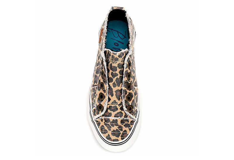 BLOWFISH Womens Play Laceless Slip On Sneaker - LEOPARD