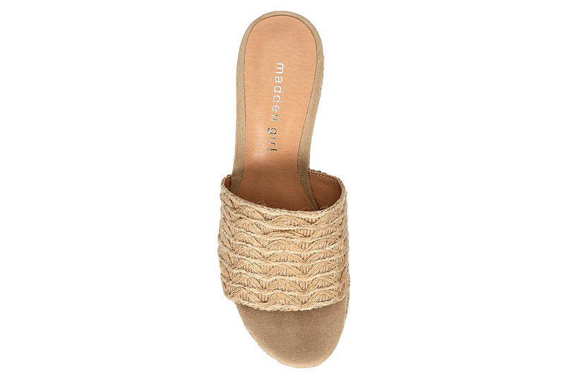 MADDEN GIRL Womens Graciee Espadrille Wedge Sandal - NATURAL