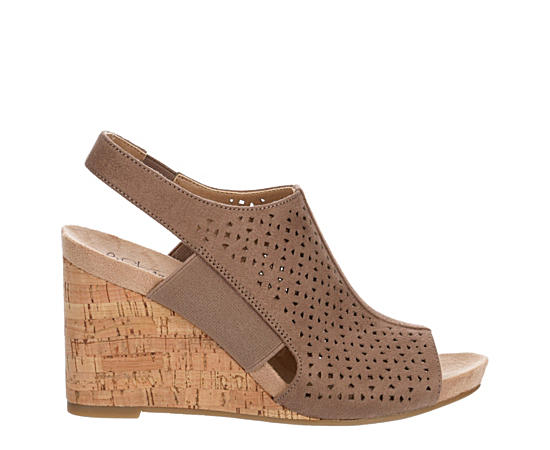 Womens Hazel Perforated Wedge Sandal