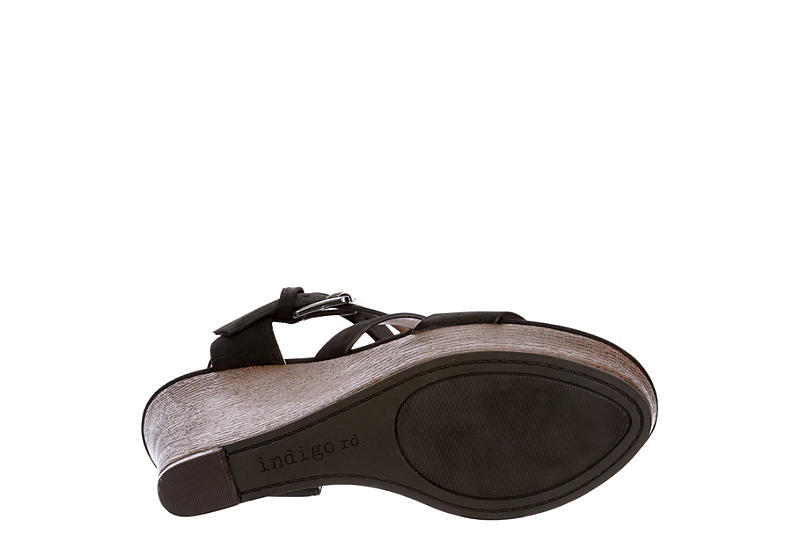 INDIGO RD. Womens Kasen Wedge Sandal - BLACK