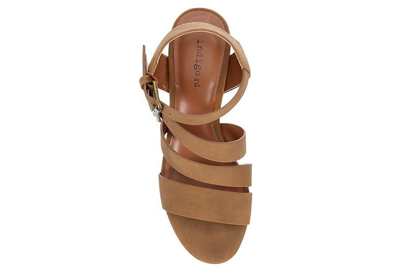 INDIGO RD. Womens Kasen Wedge Sandal - COGNAC