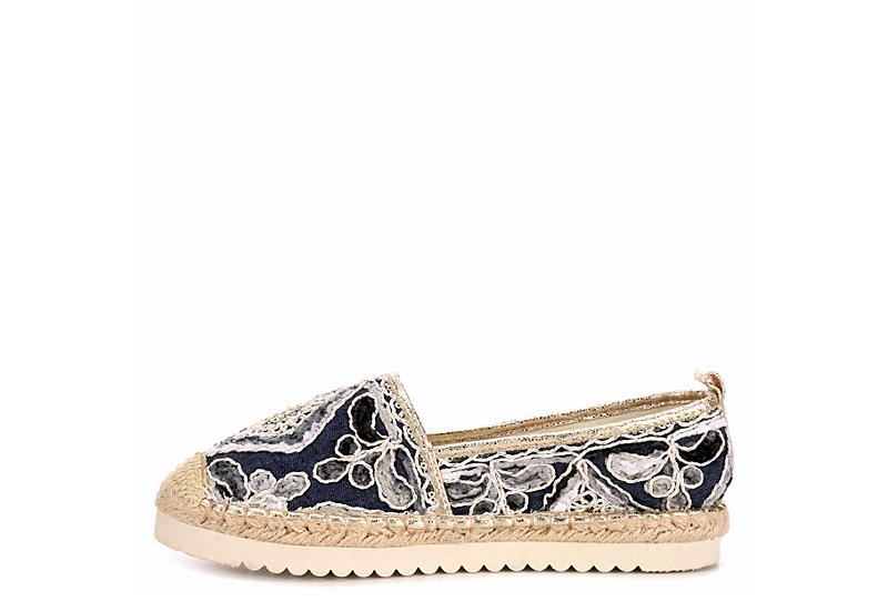 PATRIZIA Womens Agleam Espadrille Slip-on - NAVY