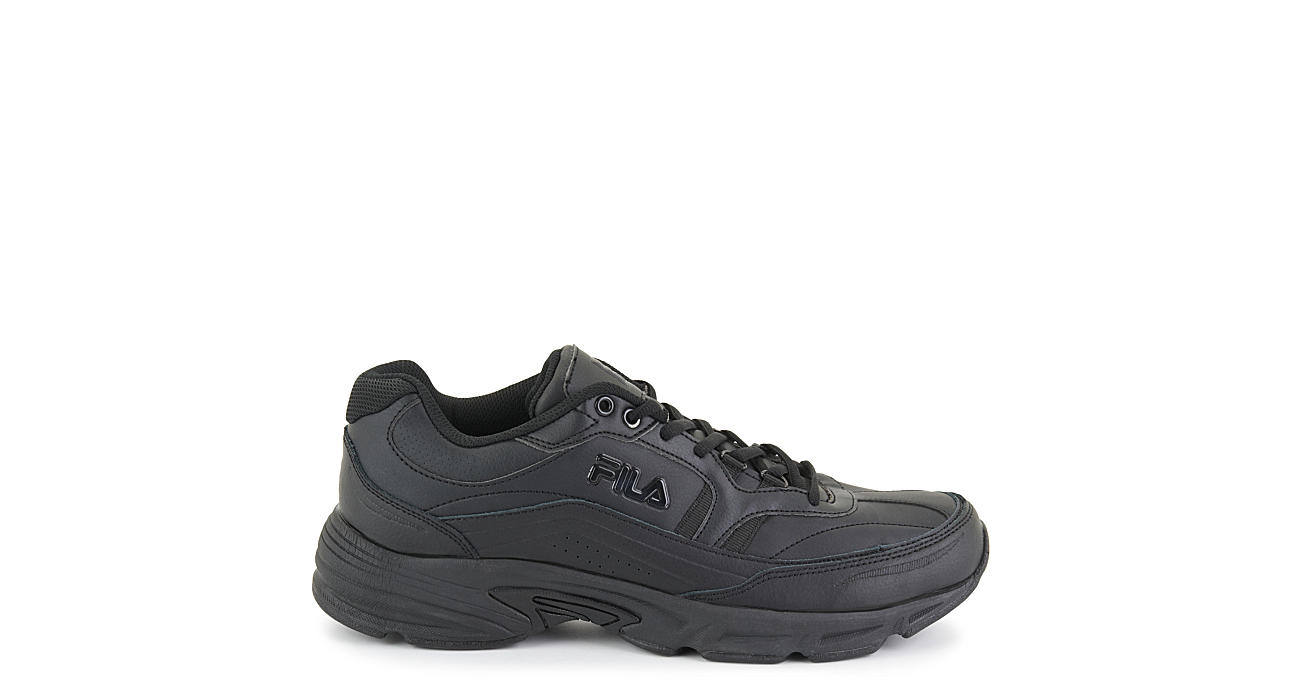 FILA Mens Memory Work Shift Slip Resistant Sneaker - BLACK