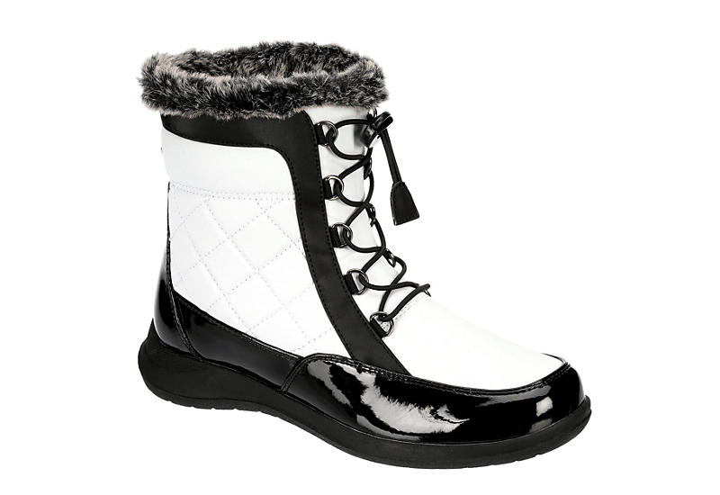 TOTES Womens Lindsey Cold Weather Boot - WHITE