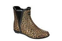LONDON FOG Womens Piccadilly Rain Boot - LEOPARD