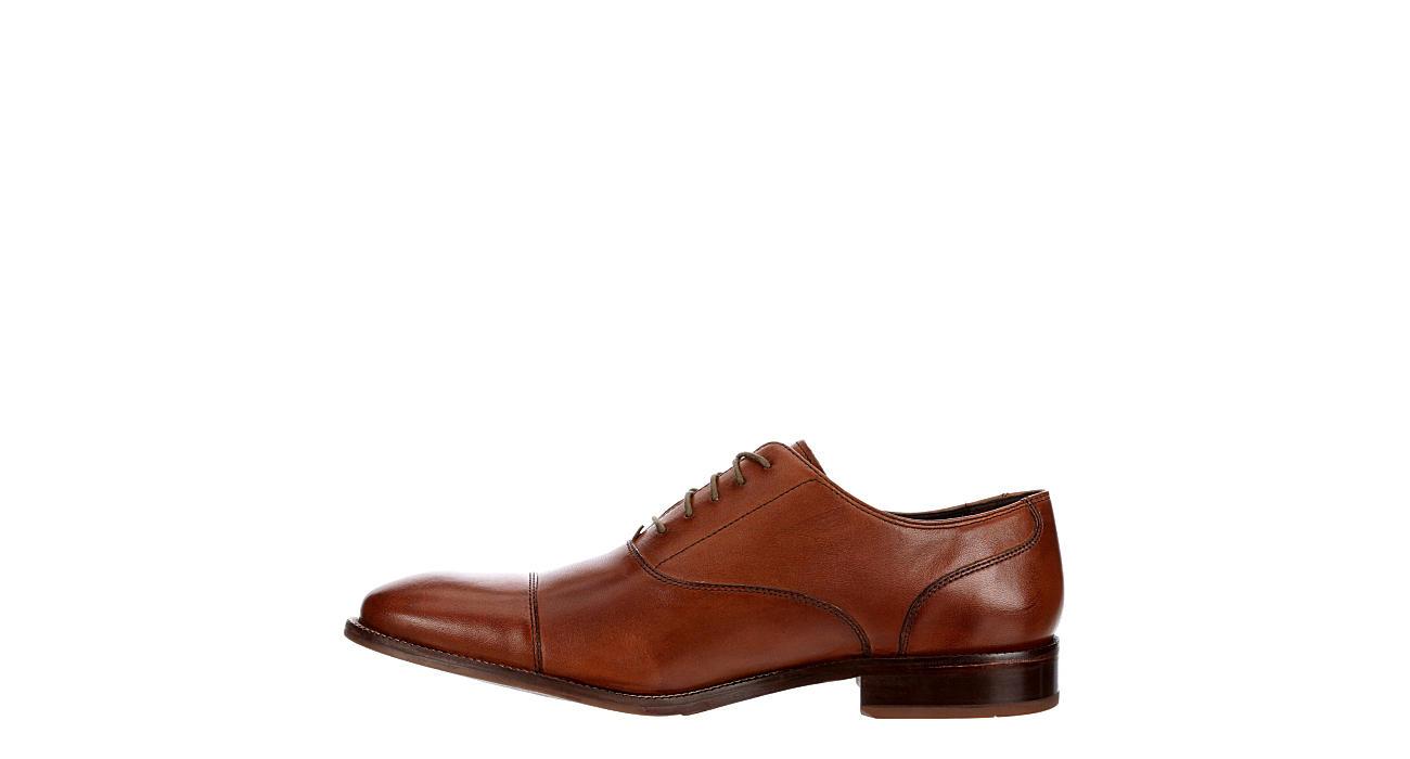 COLE HAAN Mens Williams Cap Toe Dress Oxford - COGNAC