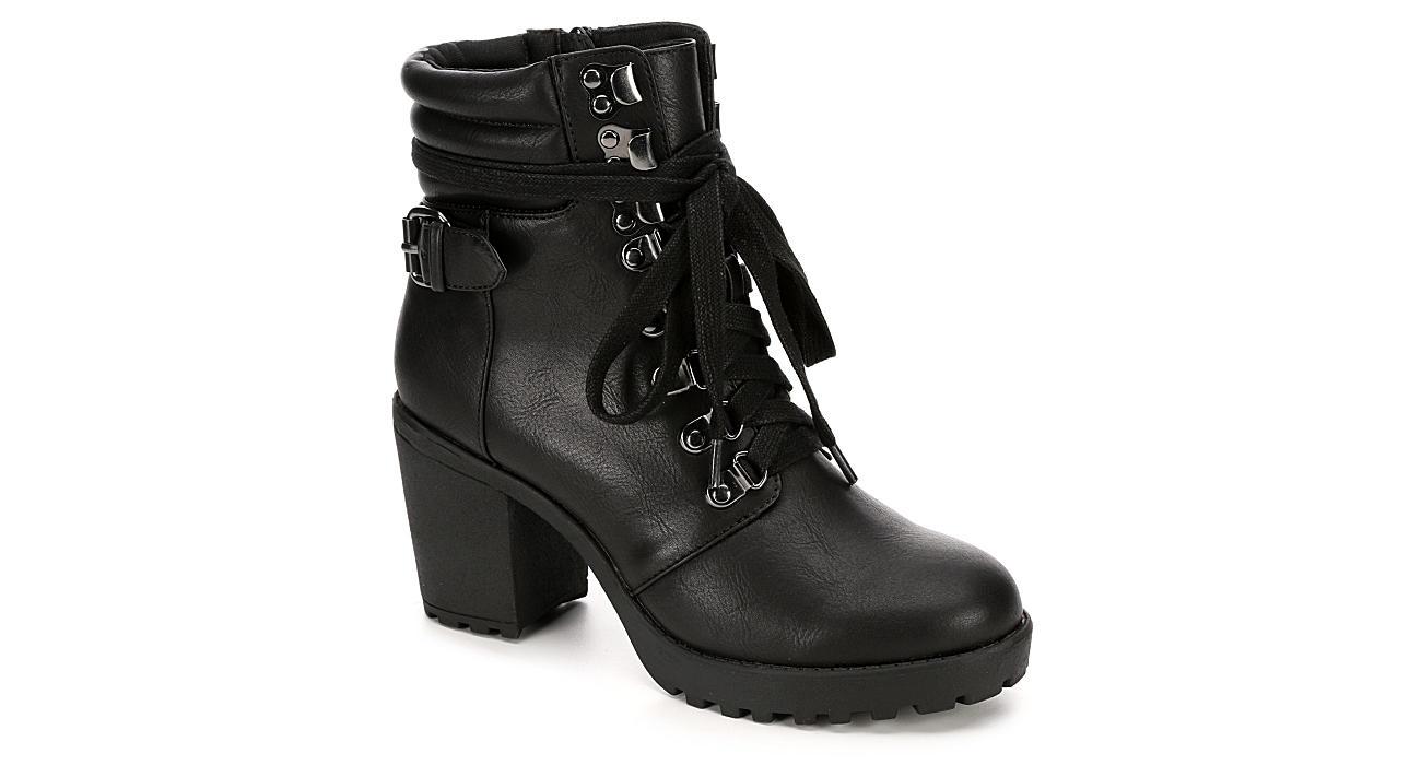 MIA Womens Annamaria Combat Boot - BLACK