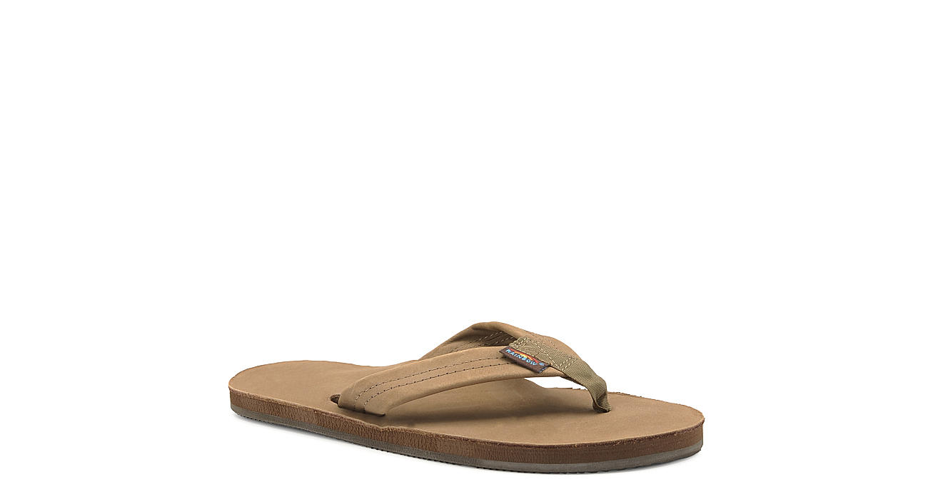 13af0b5f7a8bc Rainbow Sandals Mens 301 Alts Single Layer Leather Thong Sandal - Brown