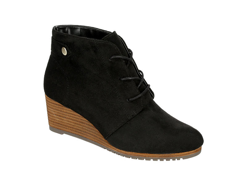DR. SCHOLL'S Womens Conquer Wedge Bootie - BLACK