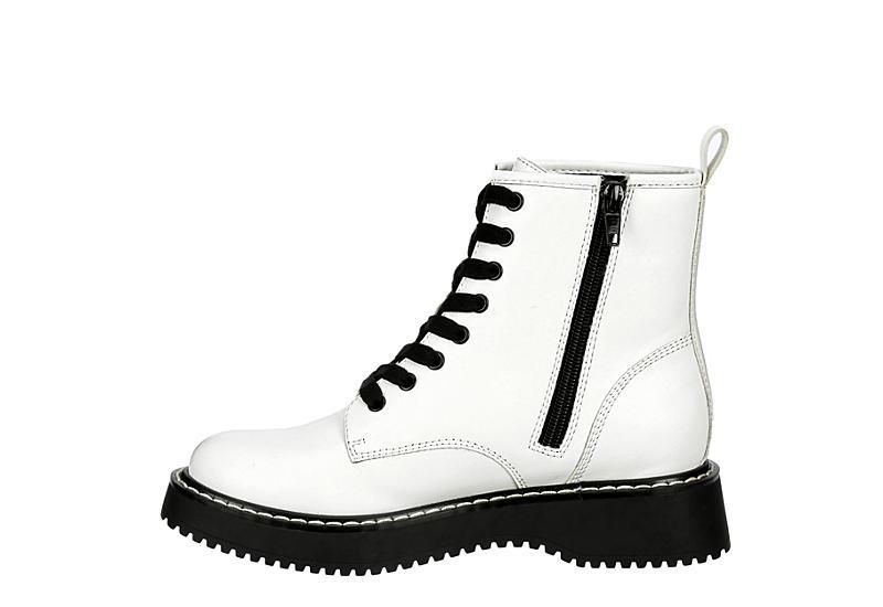 MADDEN GIRL Womens Kurrt Combat Boot - WHITE