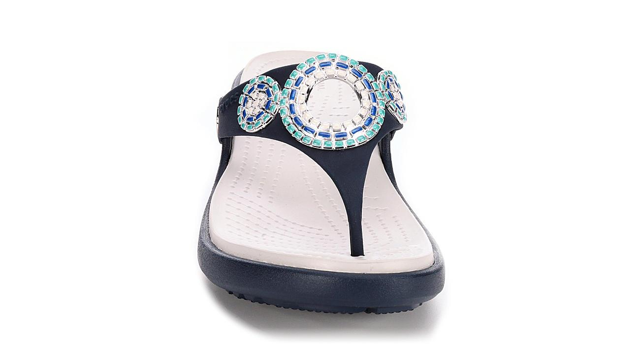 CROCS Womens Sanrah Diamante - TEAL