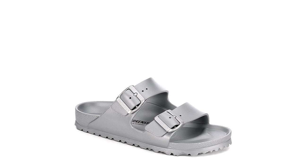 BIRKENSTOCK Womens Arizona Essentials Slide Sandal - SILVER