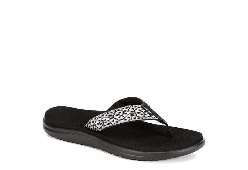 TEVA Womens Voya Flipflop Sandal - BLACK