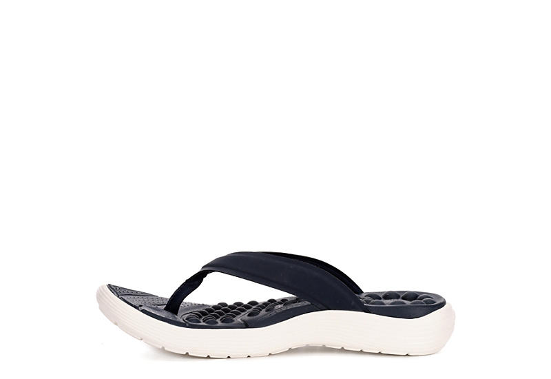 CROCS Womens Reviva Flip - NAVY
