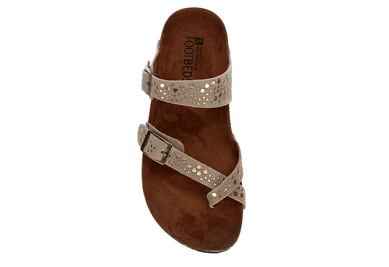 WHITE MOUNTAIN Womens Graham Footbed Sandal - TAUPE