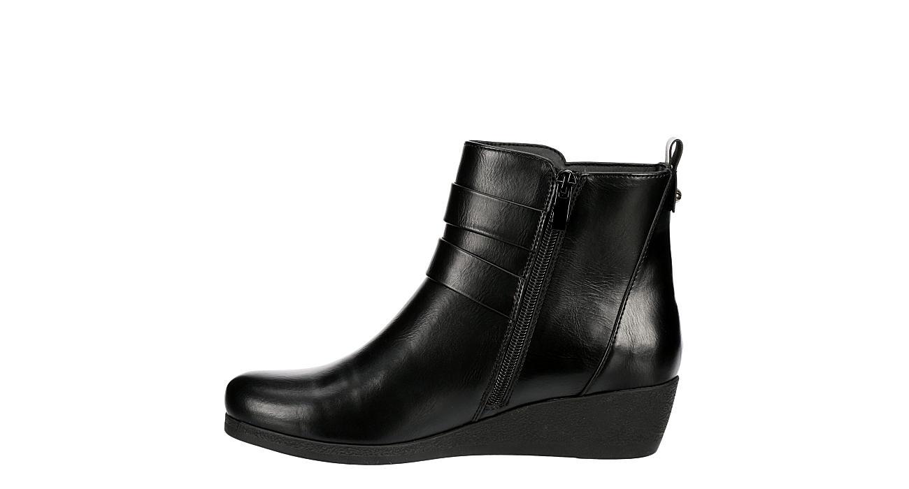 LAUREN BLAKWELL Womens Peggie Wedge Boot - BLACK