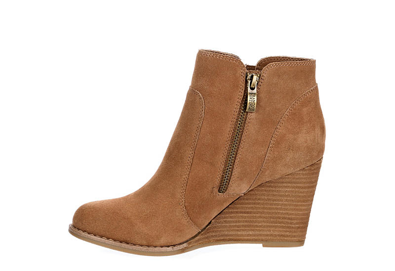 FRANCO FORTINI Womens Annie Wedge Boot - CAMEL