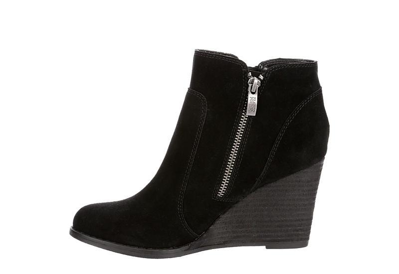FRANCO FORTINI Womens Annie Wedge Boot - BLACK
