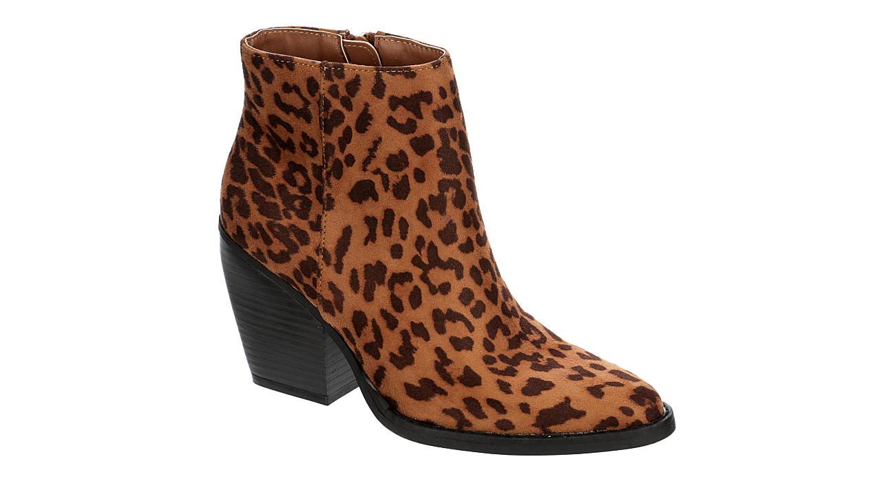 MADDEN GIRL Womens Klicck Ankle Boot - LEOPARD