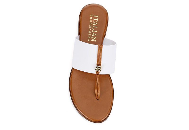 ITALIAN SHOEMAKERS Womens Afia Thong Sandal - WHITE
