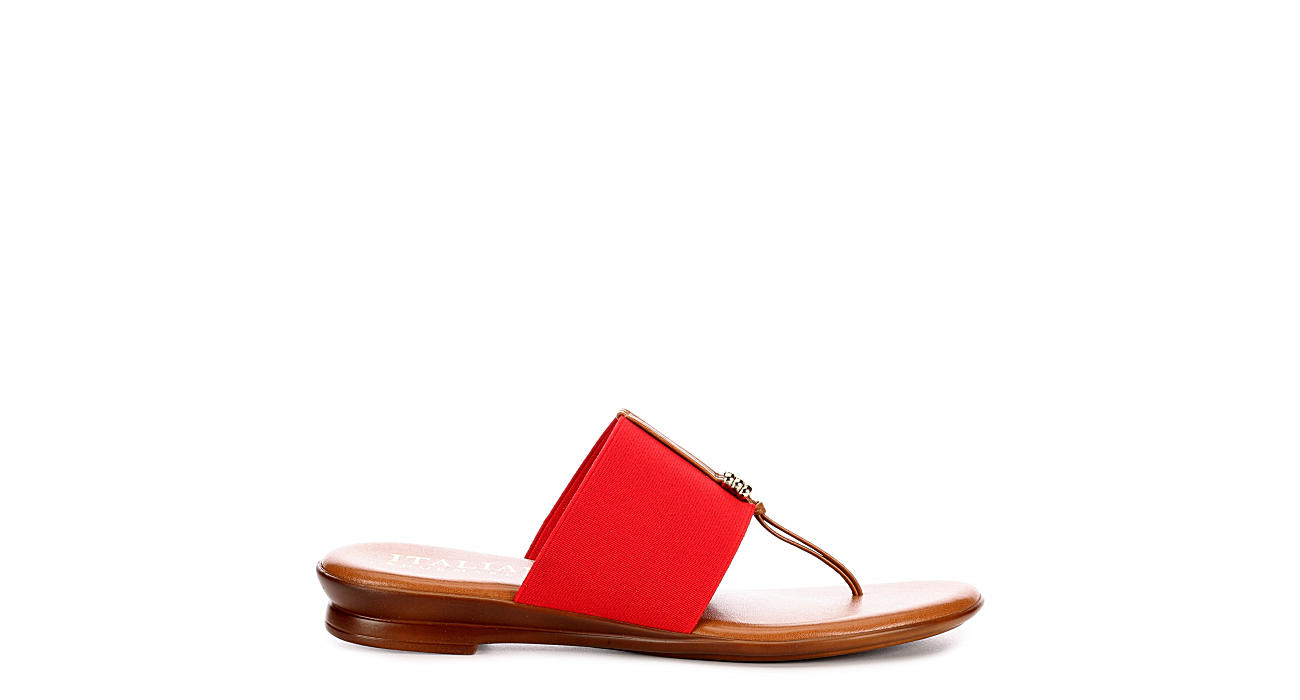 ITALIAN SHOEMAKERS Womens Afia Thong Sandal - RED
